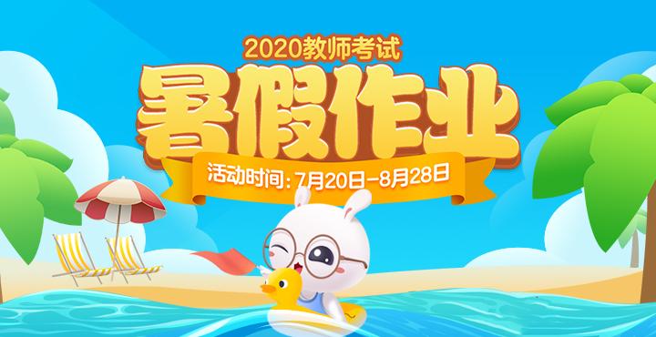 2020教师考试暑假作业